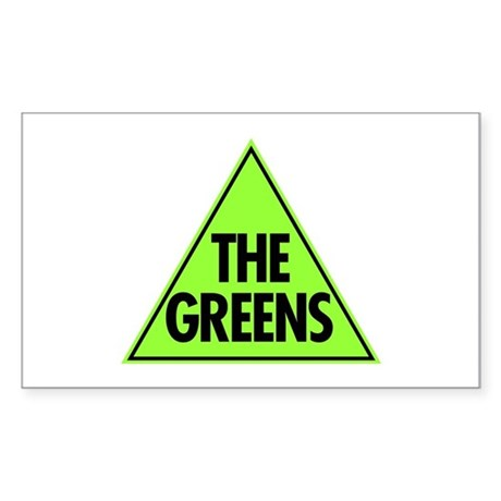 Green Party Logo Sticker (Rectangle)