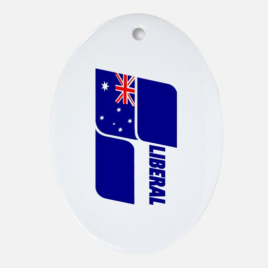 Liberal Party Logo Oval Ornament