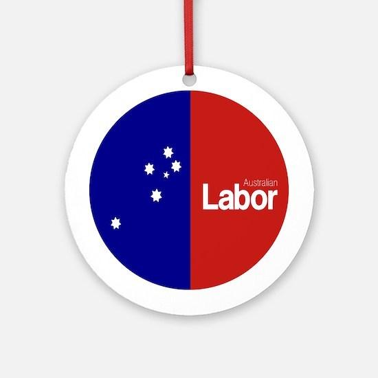 Labor Party Logo Round Ornament