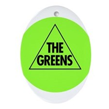 Green Party 2013 Ornament (Oval)