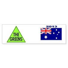 Green Party 2013 Bumper Sticker