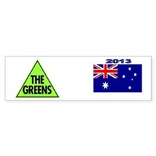 Green Party 2013 Car Sticker