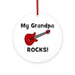 My Grandpa Rocks! (guitar) Ornament (Round)