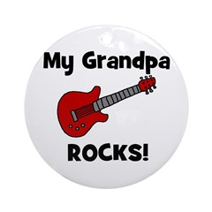 My Grandpa Rocks! (guitar) Ornament (Round)