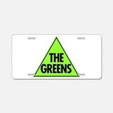 Green Party Logo Aluminum License Plate