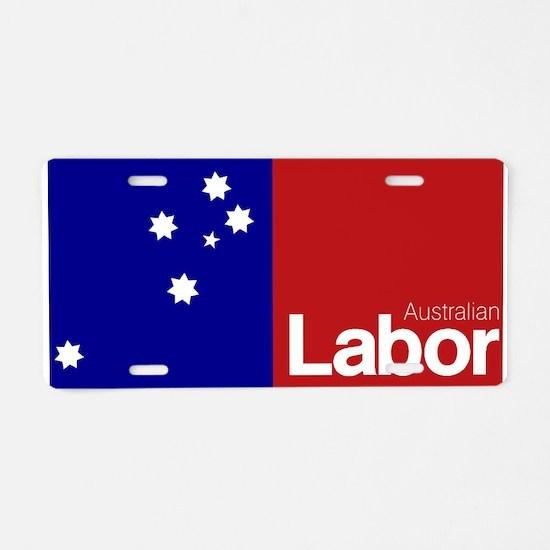 Labor Party Logo Aluminum License Plate