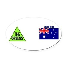Green Party 2013 Oval Car Magnet
