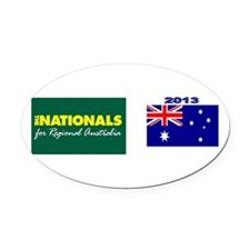 National Party 2013 Oval Car Magnet
