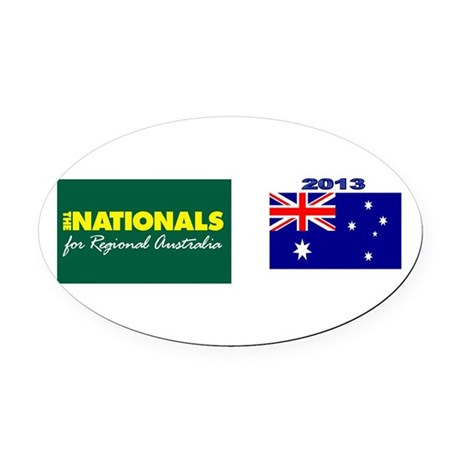National Party Logo Oval Car Magnet