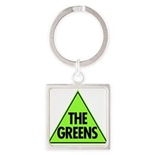 Green Party 2013 Square Keychain