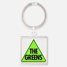 Green Party Logo Square Keychain