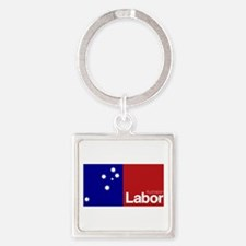 Labor Party Logo Square Keychain