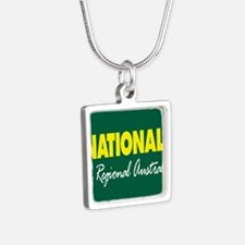 National Party Logo Silver Square Necklace