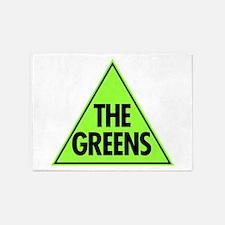 Green Party Logo 5'x7'Area Rug