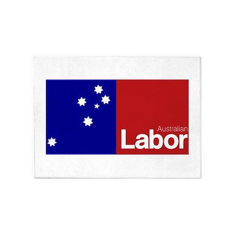 Labor Party Logo 5'x7'Area Rug
