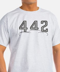 Cutlass Silhouette - 442 logo up T-Shirt