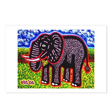 Munching Elephant Postcards (Package of 8)