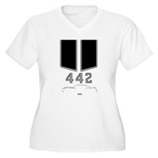 Olds 442 silhouette with logo and stripes T-Shirt