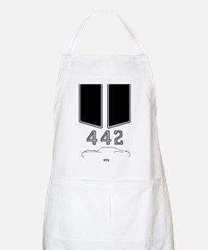Olds 442 silhouette with logo and stripes Apron