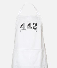 Cutlass Silhouette - 442 logo up Apron