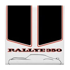 Olds Rallye 350 silhouette with logo and stripes T