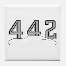 Cutlass Silhouette/442 logo Tile Coaster