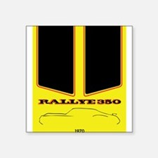 Olds Rallye 350 silhouette with logo and stripes S