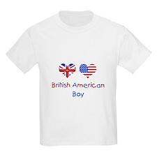 British American Boy Kids T-Shirt