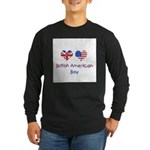 British American Boy Long Sleeve Dark T-Shirt