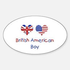 British American Boy Oval Decal