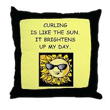 curling Throw Pillow
