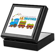 Cutest Lil Brother - Train Keepsake Box
