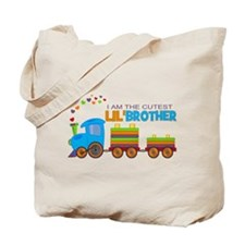 Cutest Lil Brother - Train Tote Bag