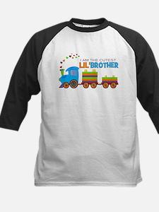 Cutest Lil Brother - Train Kids Baseball Jersey