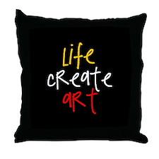 Life Create Art (multi) Throw Pillow