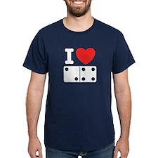 I Love Dominoes T-Shirt