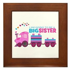 Big Sister - Train Framed Tile