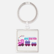 Big Sister - Train Square Keychain