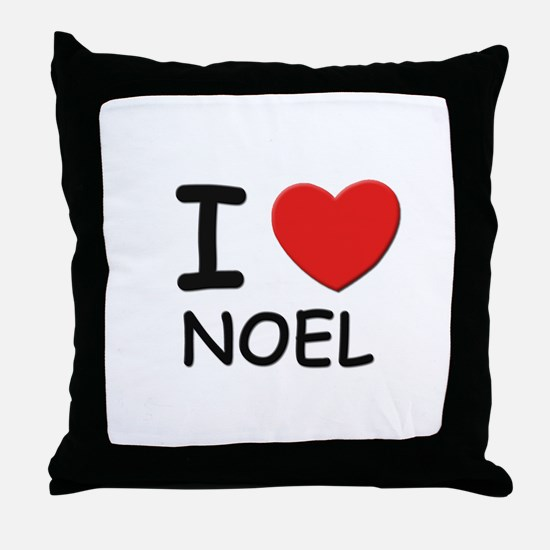 I love noel Throw Pillow
