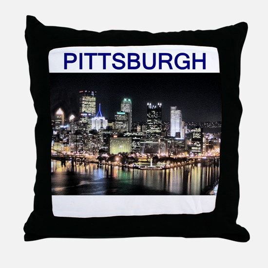 pittsburgh gifts and tee-shir Throw Pillow