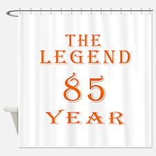 85 year birthday designs Shower Curtain