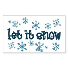 Let it Snow Rectangle Decal