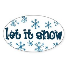 Let it Snow Oval Decal