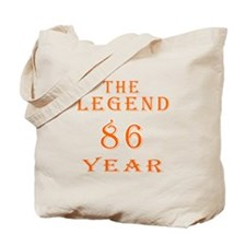 86 year birthday designs Tote Bag