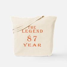 87 year birthday designs Tote Bag