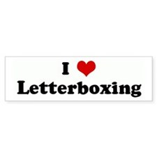 I Love Letterboxing Bumper Car Sticker