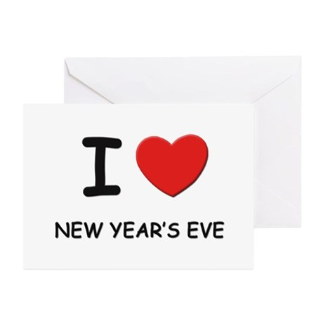 I love new year's eve Greeting Cards (Pk of 10