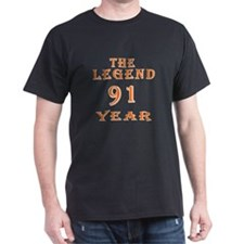 91 year birthday designs T-Shirt