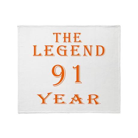 91 year birthday designs Throw Blanket