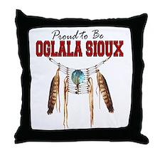 Proud to be Oglala Sioux Throw Pillow